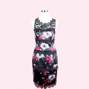 White House Black Market Floral Lace Sheath Dress